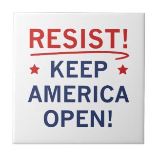 Keep America Open Ceramic Tile