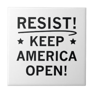Keep America Open Ceramic Tiles