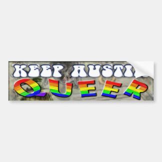 Keep Austin QUEER Bumper Sticker