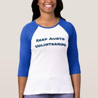 Keep Austin Volunteering Ladies 3/4 Sleeve Tee