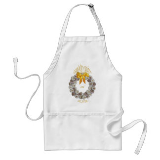 Keep away Vampire , apron with garlic wreath