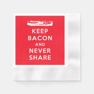 Keep Bacon and Never Share Disposable Napkins