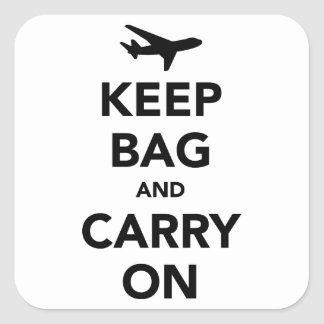 Keep Bag and Carry On Square Sticker
