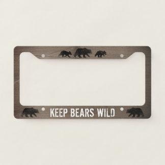 Keep Bears Wild - Bear Silhouettes Custom License Plate Frame