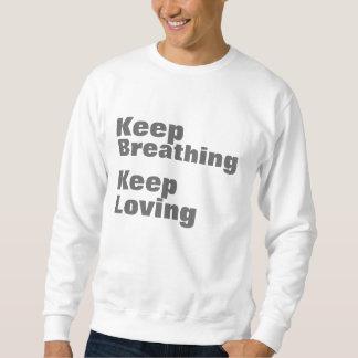 Keep Breathing Keep Loving Sweater