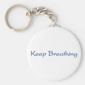 Keep Breathing Keychain