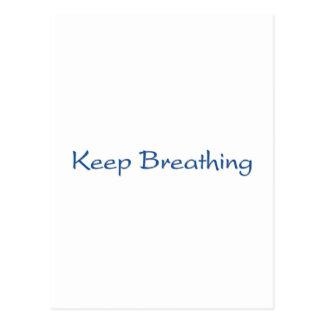 Keep Breathing Postcard