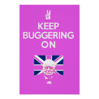 Keep Buggering ON Poster
