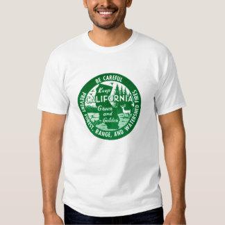 Keep California Green + Golden T Shirts