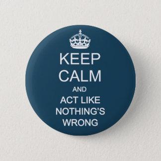 Keep Calm 1 2 Inch Round Button