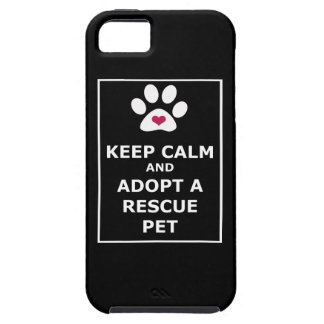 Keep Calm & Adopt a Rescue Pet - WHT iPhone 5 Cover