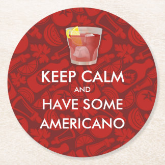 Keep Calm - Americano Round Paper Coaster