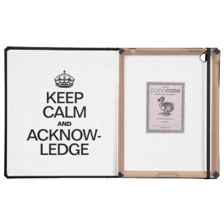 KEEP CALM AND ACKNOWLEDGE COVER FOR iPad