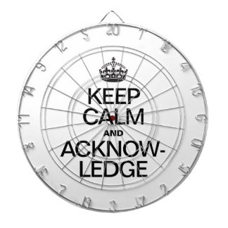 KEEP CALM AND ACKNOWLEDGE DARTBOARD WITH DARTS