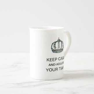 """KEEP CALM AND ADJUST YOUR TIARA"" TEA CUP"