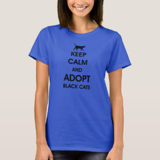keep calm and adopt black cats T-Shirt