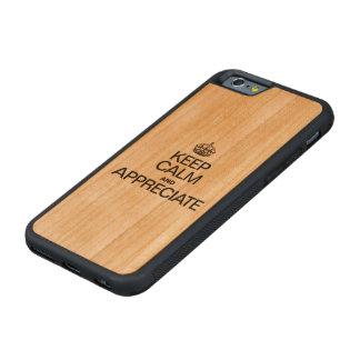 KEEP CALM AND APPRECIATE CARVED® CHERRY iPhone 6 BUMPER CASE