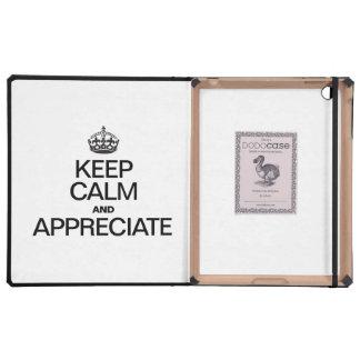 KEEP CALM AND APPRECIATE iPad FOLIO CASES