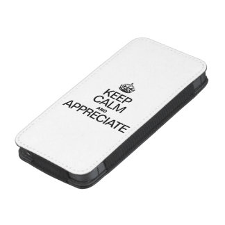KEEP CALM AND APPRECIATE iPhone POUCH