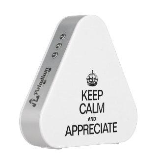 KEEP CALM AND APPRECIATE BLUEOOTH SPEAKER