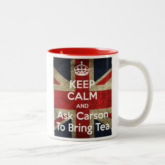 Keep Calm and Ask for Tea Two-Tone Coffee Mug