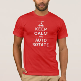 Keep Calm And Auto Rotate T-Shirt (red)