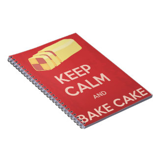 Keep Calm and Bake Cake Notebook