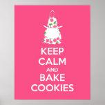 Keep Calm and Bake Cookies Poster Print