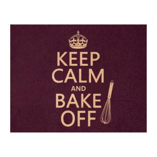 Keep Calm and Bake Off Cork Fabric