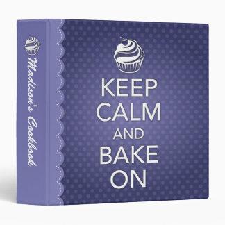 Keep Calm and Bake On Binder