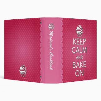 Keep Calm and Bake On Binder