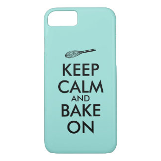 Keep Calm and Bake On Custom Color iphone Case