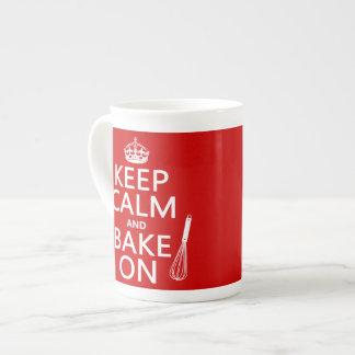 Keep Calm and Bake On Tea Cup