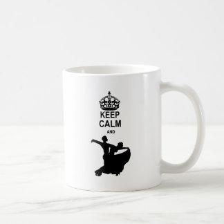 Keep Calm and Ballroom Dance Basic White Mug