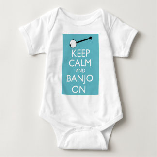 Keep Calm and Banjo On! Baby Bodysuit