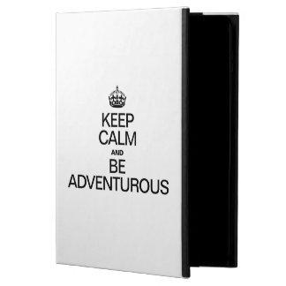 KEEP CALM AND BE ADVENTUROUS iPad AIR COVERS