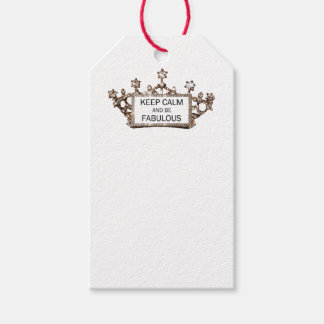 """Keep Calm And Be Fabulous"" Pack Of Gift Tags"
