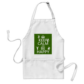 Keep Calm and Be Happy (dance) (customizable) Standard Apron