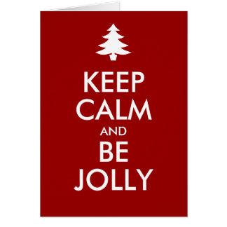 KEEP CALM and BE JOLLY Card