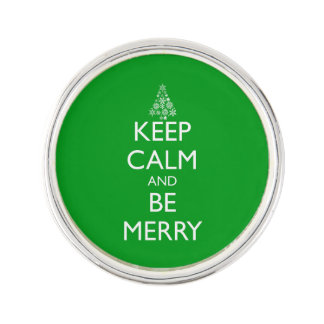 KEEP CALM AND BE MERRY LAPEL PIN