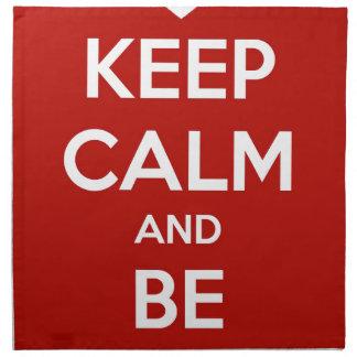 Keep Calm and Be My Valentine Napkin