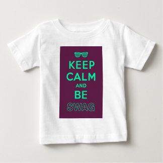 Keep Calm and Be Swag Sunglasses slogan Baby T-Shirt