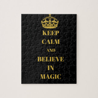 Keep calm and believe in magic jigsaw puzzle