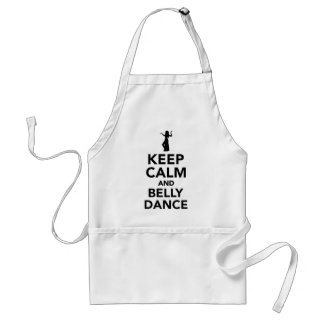 Keep calm and belly dance standard apron