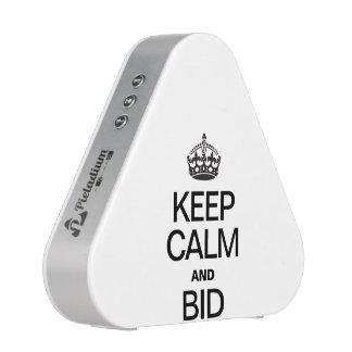 KEEP CALM AND BID SPEAKER