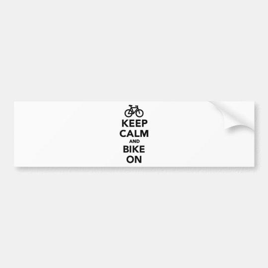 Keep calm and bike on bumper sticker