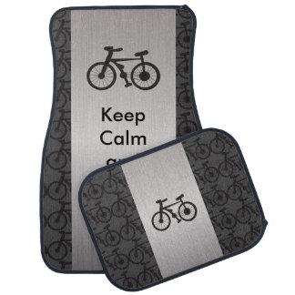 Keep Calm and Bike On Car Mat