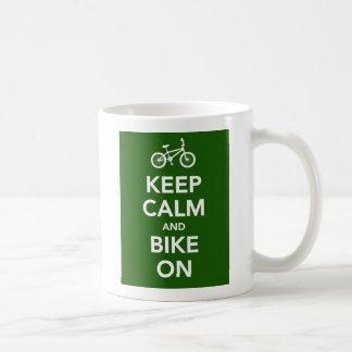 Keep Calm and Bike On mug