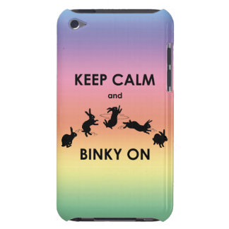 Keep Calm and Binky On iPod Touch (Rainbow) Barely There iPod Cover