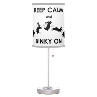 Keep Calm and Binky On Lamp (Choose Colour)